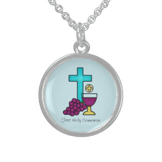 First Holy Communion Sterling Silver Necklace