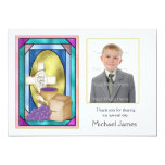 First Holy Communion Symbols Photo Card