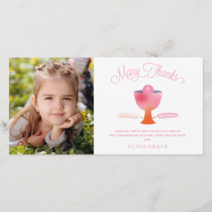 First Holy Communion Thank You Photo Card