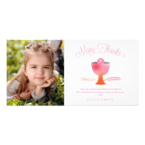 First Holy Communion Thank You Photo Card - Girl