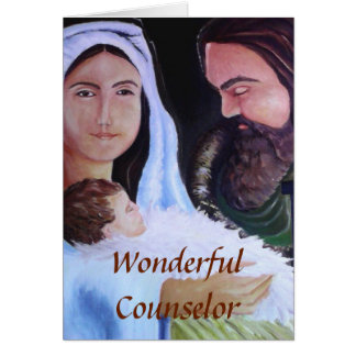 First Holy Family, Portrait of Wonderful Counselor Card