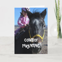 First Horse - Cowboy Parenting Holiday Card