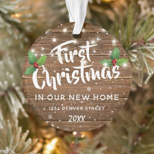 First House Christmas | New Home Photo Ornament