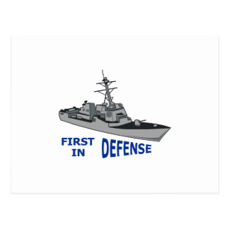 First In Defense Postcard