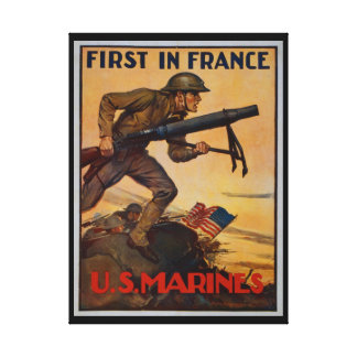 First In France Canvas Print