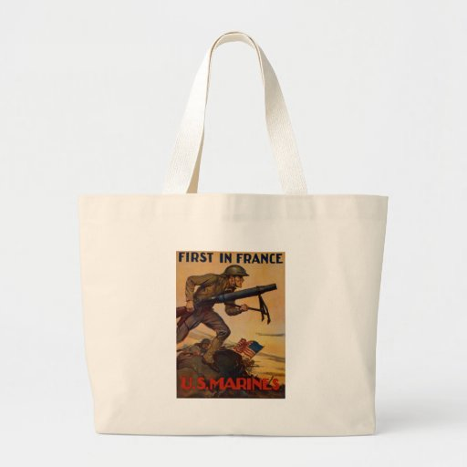 First In France Jumbo Tote Bag