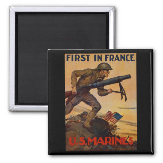 First In France Magnet