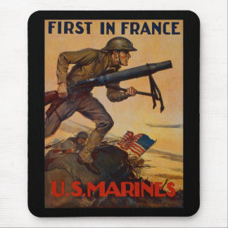 First In France Mouse Pad