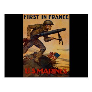 First In France Postcard