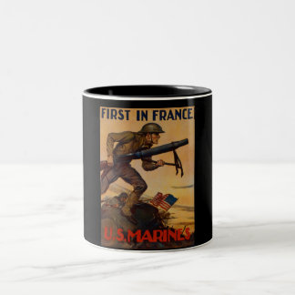 First In France Two-Tone Coffee Mug