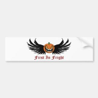 First In Fright Bumper Sticker
