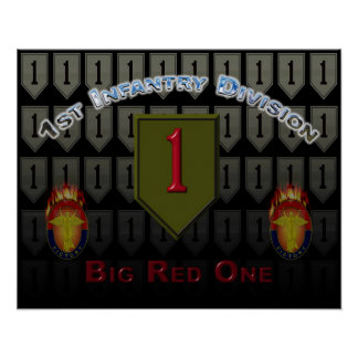 First Infantry Division Big Red One Poster