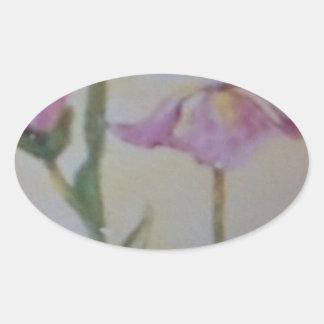 First Iris Of Spring Oval Sticker