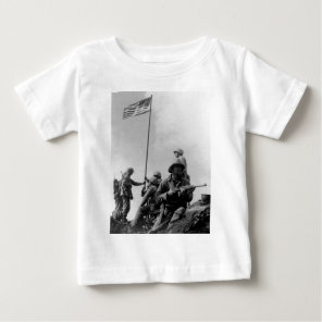 First Iwo Jima Flag Raising on February 23rd 1945 Baby T-Shirt