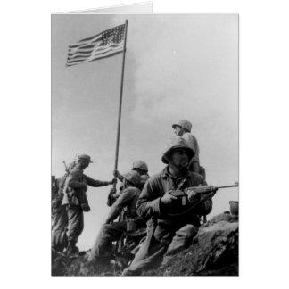 First Iwo Jima Flag Raising on February 23rd 1945 Card