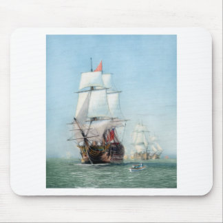 First Journey Of The HMS Victory Mouse Pad