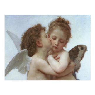 First Kiss - Beautiful Angel Painting Postcard