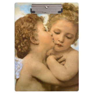First Kiss by Bouguereau, Vintage Victorian Angels Clipboard