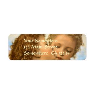First Kiss by Bouguereau, Vintage Victorian Angels Custom Return Address Label