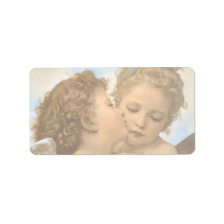 First Kiss by Bouguereau, Vintage Victorian Angels Personalized Address Label