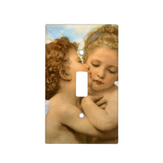 First Kiss by Bouguereau, Vintage Victorian Angels Light Switch Covers