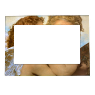 First Kiss by Bouguereau, Vintage Victorian Angels Frame Magnet