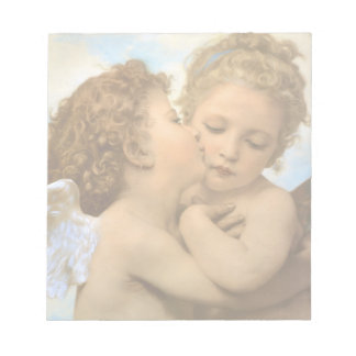 First Kiss by Bouguereau, Vintage Victorian Angels Notepad
