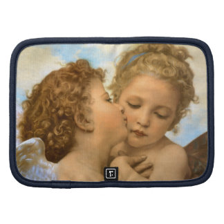First Kiss by Bouguereau, Vintage Victorian Angels Folio Planner