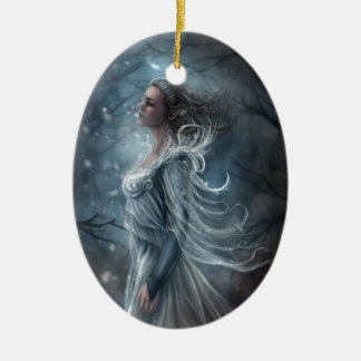First Kiss of Frost Oval Ornament