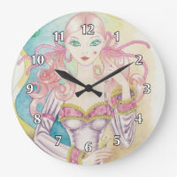 First Kiss Teenage Girl Large Clock