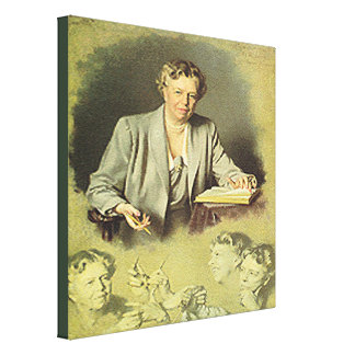 First Lady Anna Eleanor Roosevelt Gallery Wrap Canvas