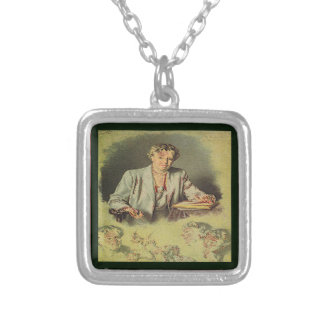 First Lady Anna Eleanor Roosevelt Square Pendant Necklace