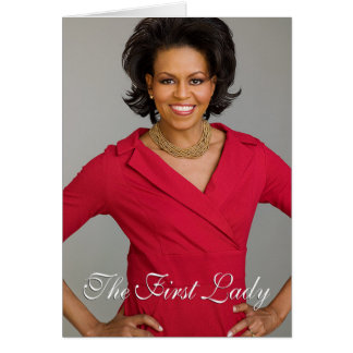 First Lady Michelle Obama Greeting Card