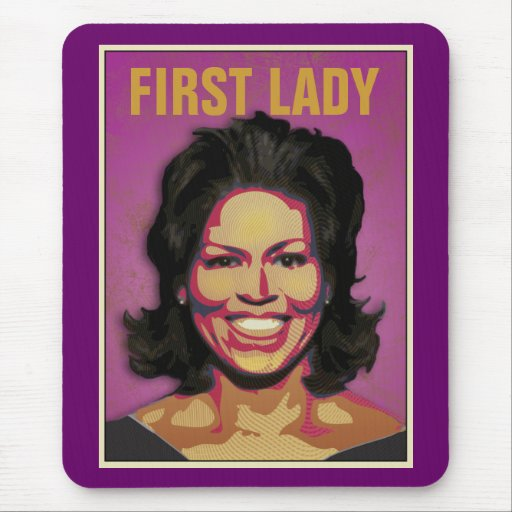 First Lady Michelle Obama Mouse Pads