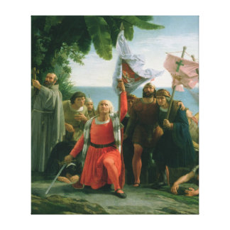 First Landing of Christopher Columbus in Canvas Print