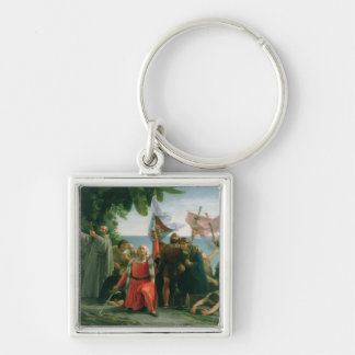 First Landing of Christopher Columbus in Keychains
