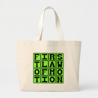 First Law of Motion Sir Isaac Newton Canvas Bag
