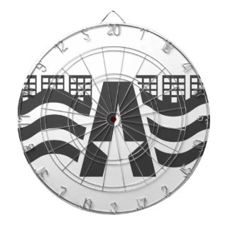 First Letter Name - A City Landscape With Star Dartboard