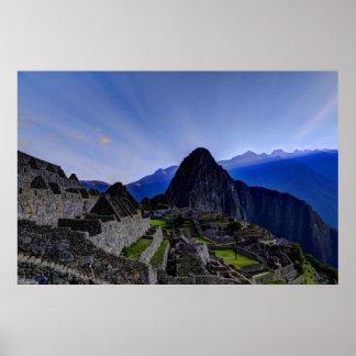 First Light at Machu Picchu Poster