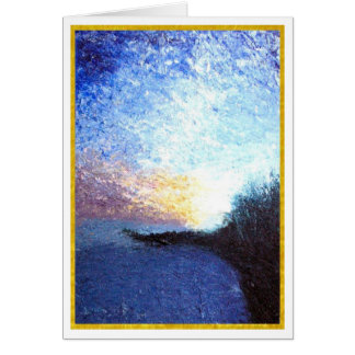 First Light at the Jetty Card