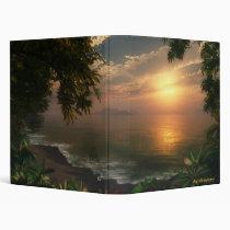 sunrise, first light, digital blasphemy, beach, tropical, morning, waves, surf, desktop wallpaper, Fichário com design gráfico personalizado