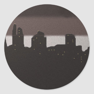 First Light in the City Classic Round Sticker