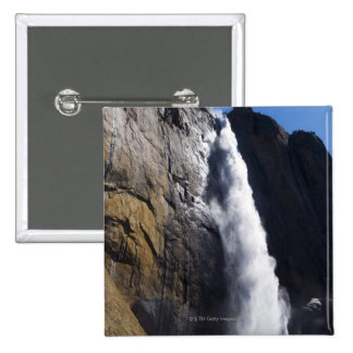 First light on Upper Yosemite Fall at peak flow Pinback Button