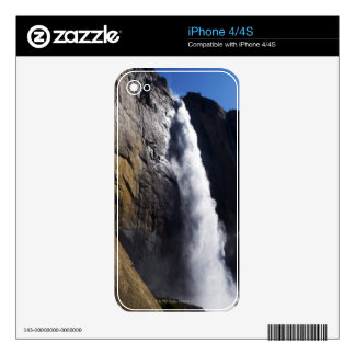 First light on Upper Yosemite Fall at peak flow Skins For The iPhone 4S
