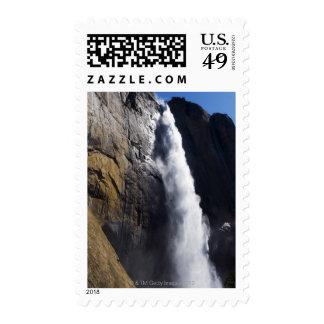 First light on Upper Yosemite Fall at peak flow Stamp