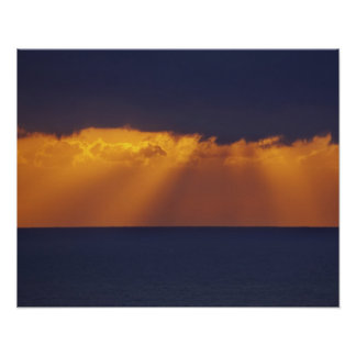 First Light over Tasman Sea, Australia Poster
