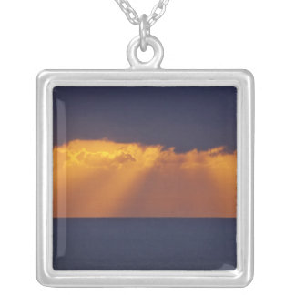 First Light over Tasman Sea, Australia Silver Plated Necklace