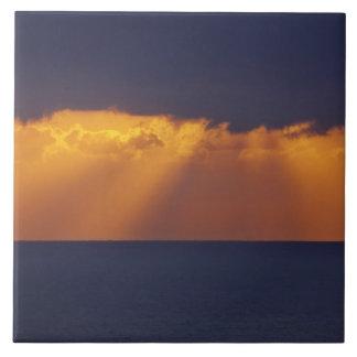 First Light over Tasman Sea, Australia Tile