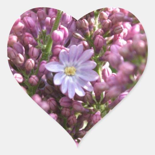 First Lilac Flower with twelve petals by BestPeopl Heart Sticker