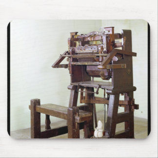 First loom for weaving stockings, 1750 mouse pad